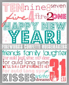 Cute New Year's Eve Printable