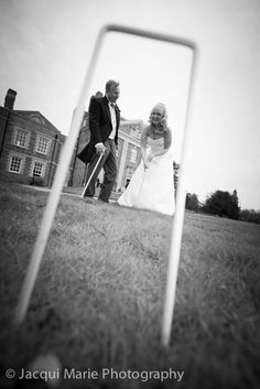 Croquet wedding fun at Warbrook House by Hampshire wedding photographers Jacqui Marie Photography. VISIT http://jacqui-marie-photography.co.uk for details