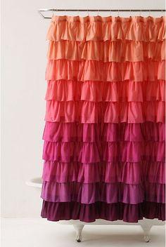 Ruffle Shower Curtain...So Cute!