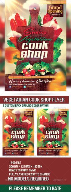 Science scientific congress flyer fonts template and print vegetarian cook shop promotional flyer fandeluxe Gallery