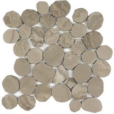 Anatolia Tile Spellbinder Polished Pebble Mosaic Wall Tile (Common: 12-in x 12-in; Actual: 11.81-in x 11.81-in)