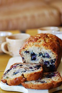 we can practically smell this yummy blueberry bread