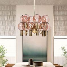 Modernist Global Ceiling Chandelier Pink Glass 12 Heads Dining Room Hanging Pendant Light - 220V-240V Pink Pink Chandelier, Flush Mount Chandelier, Hanging Chandelier, Ceiling Chandelier, Chandelier Pendant Lights, Hanging Pendants, Ceiling Pendant, Chandeliers, Hanging Ceiling Lights