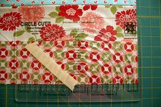 Free motion quilting using a Circle Cut ruler. Looks wonderful.