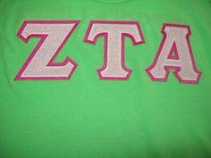 #designergreek #ZetaTauAlpha #gogreek #collegegear #customshirts #Greekpride #funcolors