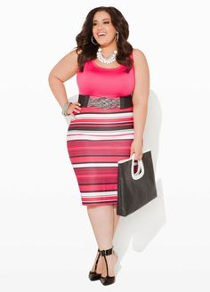 Ashley Stewart Plus Size Pencil skirt Curvy Outfits, Plus Size Outfits, Fashion Outfits, Womens Fashion, Ashley Stewart, Curvy Girl Fashion, Plus Size Fashion, Plus Size Business Attire, Pencil Skirt Outfits