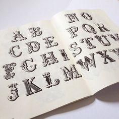 'Look to the past to design for the future'  Inspiring typography found in the book 'bizarre and ornamental alphabets'