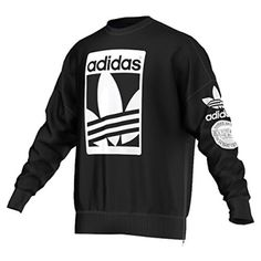 adidas Herren Sweatshirt Street Graphic Crew, Black, XL, AB8028 - 1