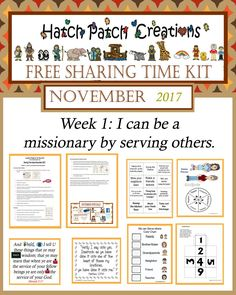 Free Stuff   Family Home Evening made easy! Hatch Patch Creations