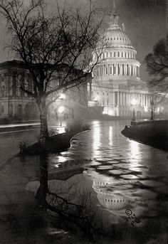 Vintage photo of the US Capitol in Washington, c1919