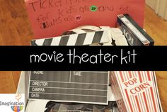 movie theater kit 25 DIY Pretend Play Kits
