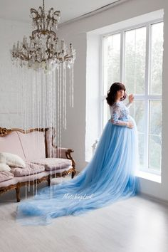 Baby Blue Maternity Gown - Maternity Dress - Lace Maternity Dress - Maternity Gown Lace for Photo Shoot - Pregnancy Dress - Photo Prop - transformar - Pregnancy Photos Elegant Maternity Dresses, Maternity Fashion Dresses, Maternity Gowns, Blue Maternity Dress, Maternity Clothing, Maternity Photo Props, Maternity Pictures, Pregnancy Photos, Pregnancy Dress