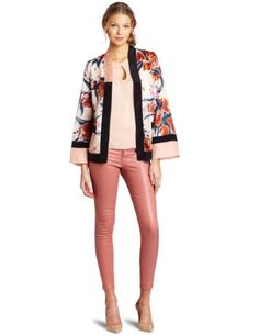 Corey Lynn Calter Women's Erin Kimono Jacket CoreyLynnCalter. $124.00. 65% Cotton/35% Silk; 100% Cotton; 73% Linen/27% Silk. Rose print. Made in USA. Dry Clean Only. Pockets