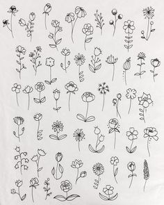 40 Easy Things to Draw for Your Bullet JournalFlower Circle Bullet Journal Doodle drawing doodle Things to Ways to Draw Simple Ways to Draw Flowers // flowers drawing // Flower drawing, floral drawing Bullet Journal Ideas Pages, Bullet Journal Inspiration, Doodle Inspiration, Doodle Drawings, Tattoo Drawings, Sketch Tattoo, Drawings On Hands, Pencil Drawings, Doodle Tattoo