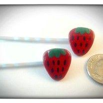 Juicy strawberry bobby pins