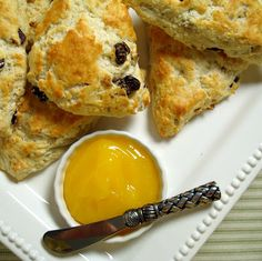A Spicy Perspective Warm Cherry-Walnut Scones with Lemon Curd - A Spicy Perspective