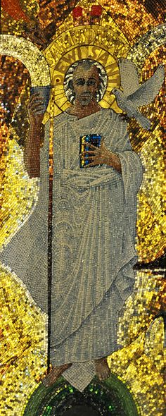 David of Wales mosaic in Westminster (Catholic) Cathedral, London Westminster Cathedral, St David, Roman Church, Large Crowd, Cymru, White Doves, Catholic Saints, St Francis, Create Image
