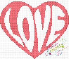 Love cross stitch chart