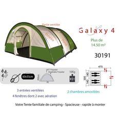 Tente Go Sport pas cher, achat Galaxy 4 FREETIME NS TENTE CAMPING prix Go Sport 359.00 €