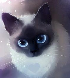 Een mooien kat die mooien oogen heeft volgensmij wil ze dat je haar aait