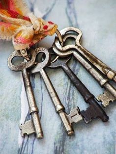 Skeleton keys make me think of mysterious locked doors that need to be explored