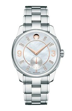 Timepieces LUX | Serafini Amelia| Movado 'LX' Mother-of-Pearl Bracelet Watch, 32mm available at #Nordstrom