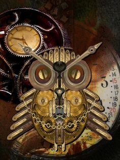 Steampunk Owl by Shannon Story