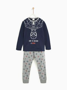 Imagen 1 de PIJAMA SPIDERMAN® de Zara Boys Pajamas, Pyjamas, Pjs, Marvel Kids, Baby Kids, Baby Boy, Disney Boys, Zara, Toddler Fashion