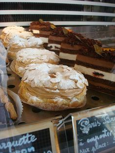 Paris Brest in a Shop Window i need to try to make them this weekend