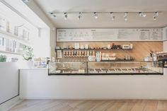 PASTHELLO - Picture gallery Cafe Shop Design, Coffee Shop Interior Design, Bakery Design, Coffee Design, Bakery Decor, Bakery Interior, Cafe Restaurant, Restaurant Design, Cafe Counter