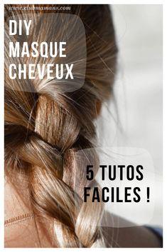 DIY Masque cheveux : du naturel pour ma crinière ! ⋆ Club Mamans Club Hairstyles, Diy Hairstyles, Diy Beauty, Beauty Hacks, Cheveux Ternes, Diy Hair Mask, Hair Masks, Better Life, Blonde Hair