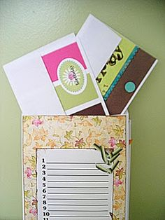 Easy to make birthday calendar with pockets for outgoing birthday cards