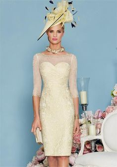spring outfits for mother of the bride best outfits - ball dresses Summer Mother Of The Bride Dresses, Mother Of Groom Dresses, Mothers Dresses, Mother Of The Bride Hats, Green Lace Dresses, Ball Dresses, Dresses 2016, Outfits 2016, Cute Dress Outfits