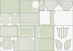 Provencal in Greenish Gray: Free Printable Wedding or Annyversary Invitations.