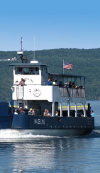 Madeline Ferry, it brings you from Bayfield to Madeline Island and while your on the Island make sure to visit Grandpa Tony's for a sandwich.  Yum!