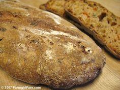 Farmgirl Fare: Recipe: Fresh Tomato & Basil Whole Wheat Sourdough Bread