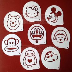 Aliexpress.com : Buy 8Pcs/Lots Cartoon Figure Coffee Decorating Stencils Cookie Latte Stencil Cake Mold Decor Barista Duster Art DIY Fondant Silicone from Reliable silicone thread suppliers on Simple Home Great Life  | Alibaba Group
