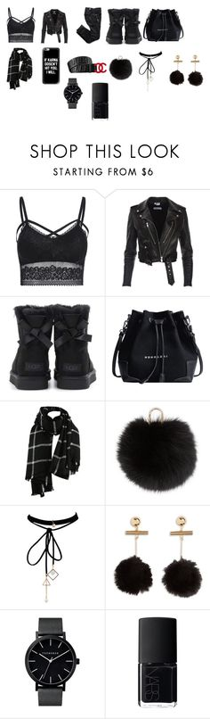 """""""Founder Days Outfit"""" by leyaatierra ❤ liked on Polyvore featuring UGG, Gucci, Yves Salomon, WithChic and NARS Cosmetics"""