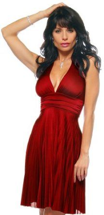 Red Marilyn Pleated Halter Sexy Party Cocktail Dress .... love this too!