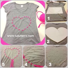 Tutoriales Brown Things john j brown colorado Sewing Hacks, Sewing Crafts, Sewing Projects, Cut Up Shirts, Recycled T Shirts, Clothing Hacks, Love Sewing, T Shirt Diy, Refashion