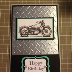 Masculine birthday card - for my father, who drives a motorcycle