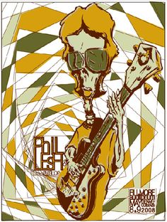 Original concert poster for Phil Lesh and Friends at the Fillmore in Denver Colorado, 2008. 18 x 24 silkscreen on cardstock. Signed and numb...