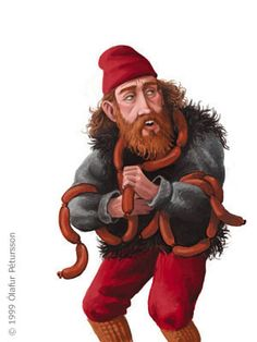 Bad Santas! The Icelandic Yule lads are descended from cannibalistic trolls and they steal food from the mouth of babes and terrorize children. More on those bad boys of Christmas on http://stuckiniceland.com/history/bad-santas-the-deviants-at-the-heart-of-icelandic-christmas/