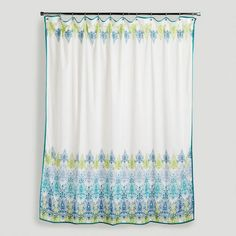 Blue/Green Print Shower Curtain Elise I really really like this one and these colors!