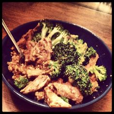 """Super Delicious!!! Sweet Onion Chicken with Broccoli and Cauliflower Fried """"Rice""""- great for all phases of Ideal Protein. For more recipes, check out my blog: www.idealproteintiffany.weebly.com!"""
