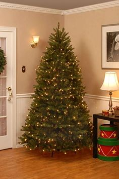 This stunning full and lush artificial Christmas tree fills any room with holiday cheer. With natural-looking branches, this favorite is sure to make your holiday joyous and warm.