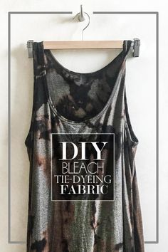 If you want to give some of your clothes a major update, check out my DIY Bleach Dye tutorial!