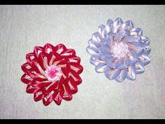 Цветок канзаши. Цветы из атласных лент своими руками. // Flower kanzashi. - YouTube