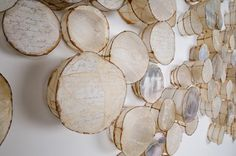 "Leslie Pearson ..""Cells"" by Leslie Pearson - mixed media - gut, wire, photographs on paper"