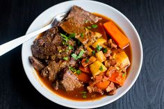 Beef à la Mode (Boeuf à la Mode) is the French variation of traditional pot roast. What sets it apart from an American-style pot roast is that it uses red or white wine (and sometimes tomato), whil...